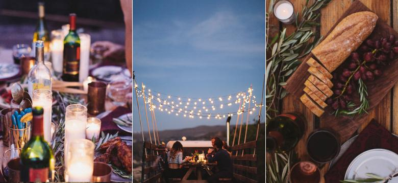 Best Spot to Have a Dinner Party in a Vineyard? The Back of a Vintage Pick-Up, Of Course