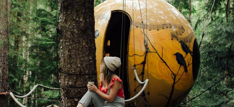 Float In the Forest With Your Very Own Spherical Treehouse