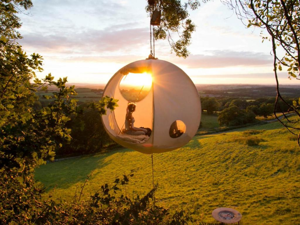 Host A Floating Glamping Gathering With A Hanging Tent Tipi