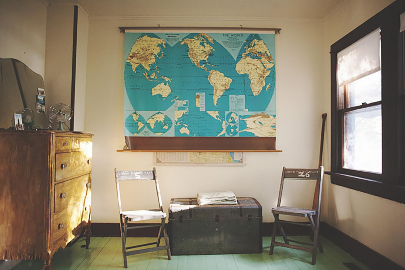 If you are adventurous this room is perfect for you - Camp Wandawega, Wisconsin.