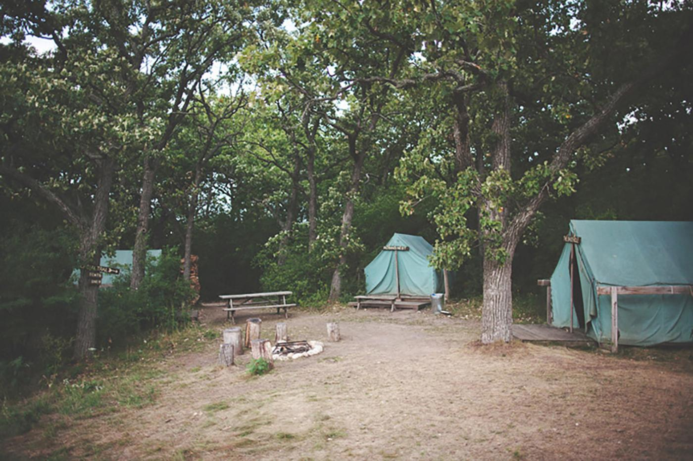 The perfect spot to for a summer campsite - Camp Wandawega, Wisconsin.