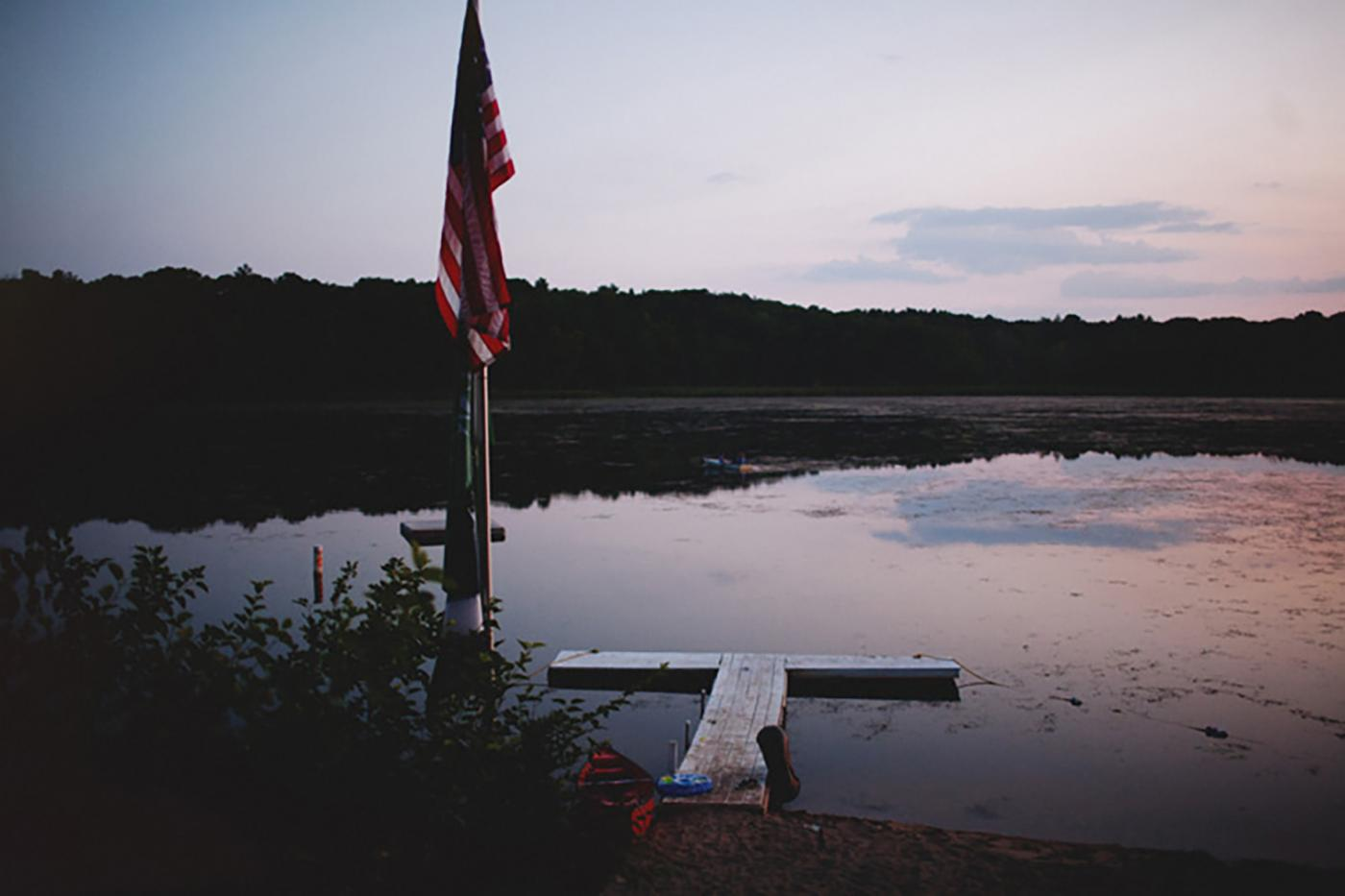 Summer sunsets at this campground are just about perfect.