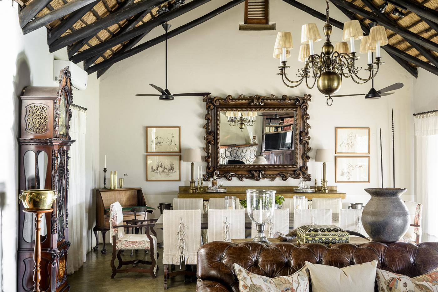 The interior of this stunning resort in South Africa reflects the natural landscape perfectly.