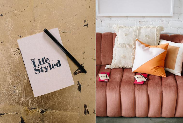 Taking notes at The Life Styled exclusive styling workshop