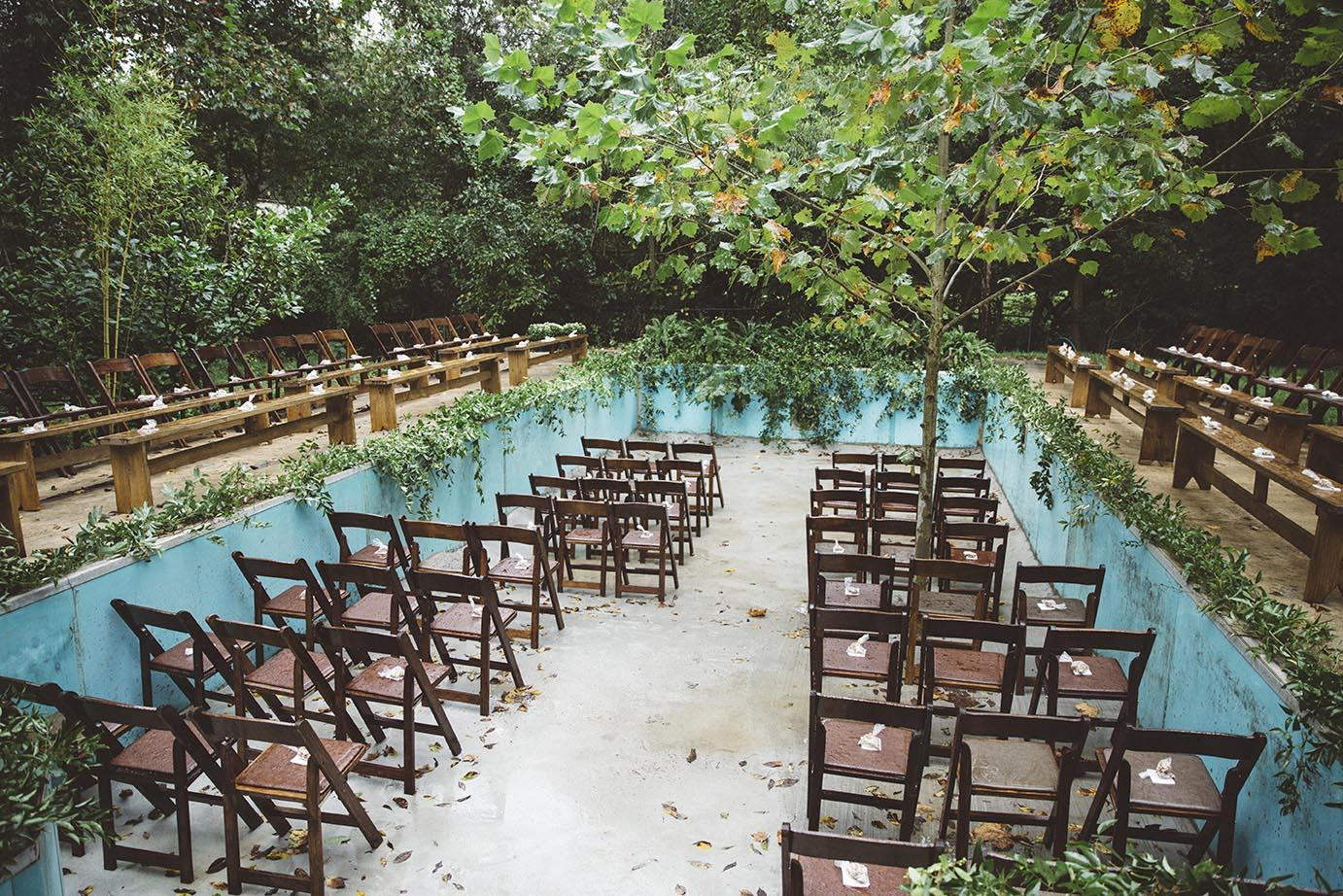 This Abandoned Pool Turned Into A Secret Garden Wedding