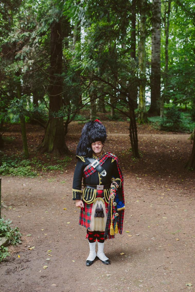 Scottish Bag Piper at Blair Castle