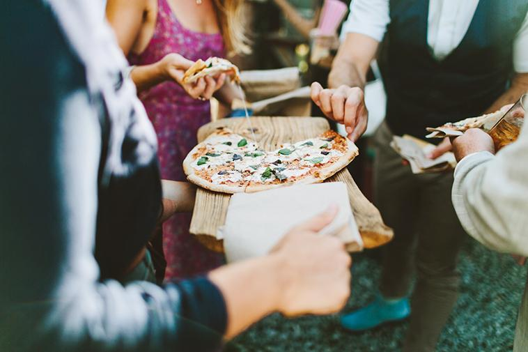 Pizza provided by Blooming Hill Farm