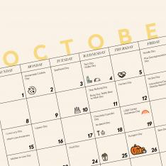 Hello, #Holidays: Download TVR's October, 2017 Wallpaper Calendar
