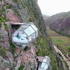 Sleep Cozy While Hanging Off the Side of a Peruvian Mountain at Skylodge