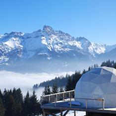 Stay In An  Eco-Luxury Snow Covered Pod In The Swiss Alps