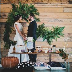 Indigo Inspired Wedding Shoot in One of Anaheim's Best Kept Secrets