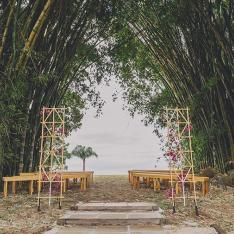 You'll Never Believe This Bohemian Couple's Dramatic Wedding Arch