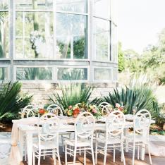 A Desert Greenhouse Garden Party Venue In Driftwood Texas
