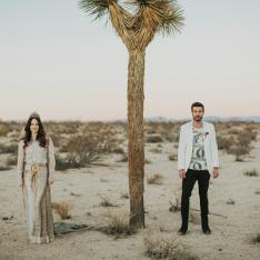 Back to the Future Inspired Vow Renewal in Joshua Tree