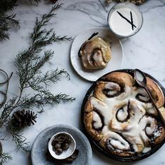Beth Kirby Introduces Us To Her Delectable Christmas Morning Secret: Brown Butter Cinnamon Rolls with Whiskey Eggnog Frosting