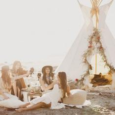How to Host a Wild Beach Camp Bachelorette by Tinker Tin Trailer Co.
