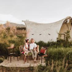 A Colorfully Styled Elopement in Mexico's Valle de Guadalupe
