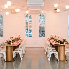 This Bridal Fashion Event Took Place in an Old NYC Carriage House