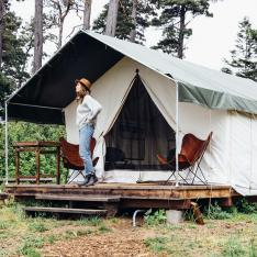 Calling All Glampers: Now Through November, Save 50% on a Night in the Redwoods