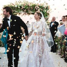 This Bride Wore the Chicest Sheer Wedding Dress