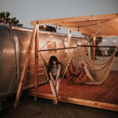 Three Airstreams and a Vintage Cottage in the California Desert