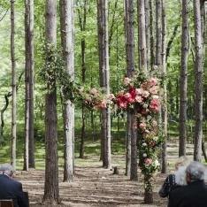 Pine Groves, a Barn and a Whole Lot of Character Complete This East Coast Wedding