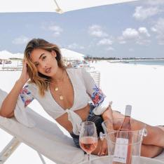 A Rosé Pop-Up Bar on One of the Best Beaches in the World