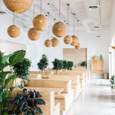 This Neighborhood Restaurant Has One of the Prettiest Minimal Interiors We've Ever Seen
