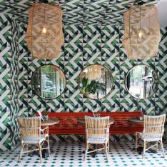 This Stunning Brunch Spot Will Make You Green With Tile Envy