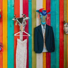 A Colorful Wedding in Mexico Under a Canopy of Candlelight