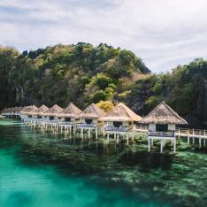 An Archipelago Dotted with Overwater Bungalows in The Philippines