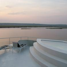 A luxury African river safari : Chobe River, Namibia, Africa