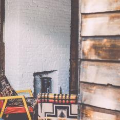 Gather at this Williamsburg B & B. Adirondack Cowboy Sensibility included.