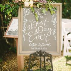 Wedding Chalkboard Sign Photos by Perpixel Photography