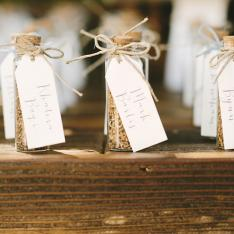 Seeded Escort Card Favors Photos by Perpixel Photography