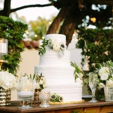 White Rustic Wedding Cake With Flowers Photos by Perpixel Photography
