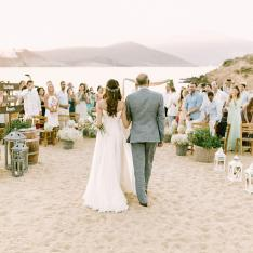 A Boho Beach Wedding on The Island of Mykonos