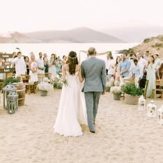 A Boho Beach Wedding on The Island of Mykonos