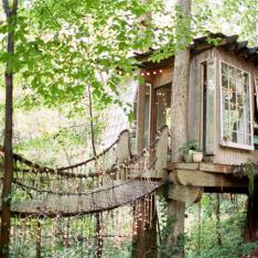 An Elopement At A Magical Treehouse In The Forest