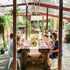 A Peachy Mother's Day Luncheon Party at a Garden Oasis in San Diego