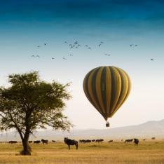 Birthday Bucket List of the Week:  A Glamping Balloon Safari over the Serengeti