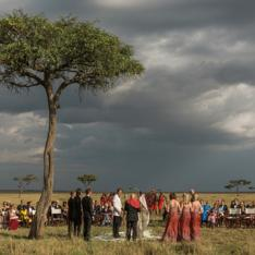 A Tradition-Filled Storm and Safari Wedding in Masai Mara, Kenya