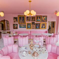 This New Lounge Is Bringing an All Pink High Tea Experience to America