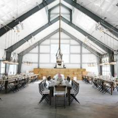 Garden Party in a Historic Warehouse Space