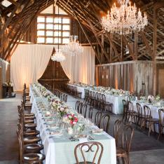 A Barn Wedding Amongst The Towering California Redwoods!