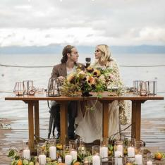 A Rainy Day Wedding at West Shore Cafe