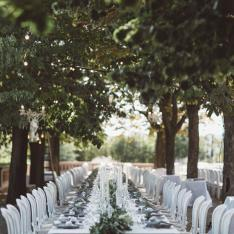 Castell De Sant Marcal: A Rose Colored Castle is the Backdrop for a Greenhouse Gathering!