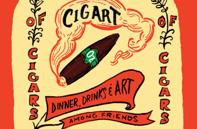 CigArt: Dinner, Drinks and Art Among Friends, August 30th, 6pm