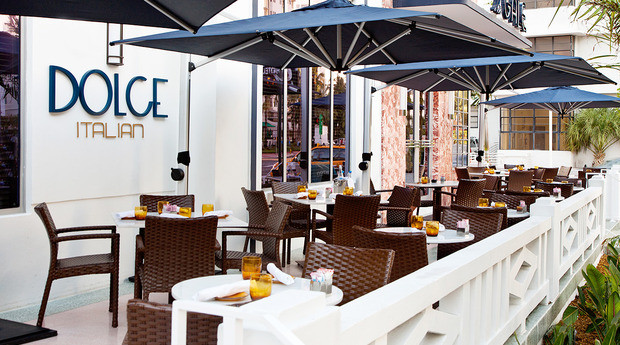 Opened January 2017 By Ldv Hospitality Miami Herald Three Star Dolce Italian Is An Inviting Café And Restaurant