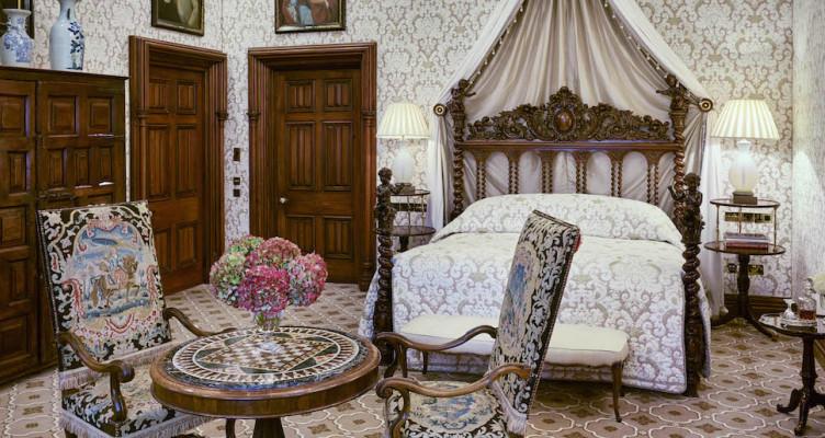 castle canopy bed ashford castle hotel cong mayo ireland venue report